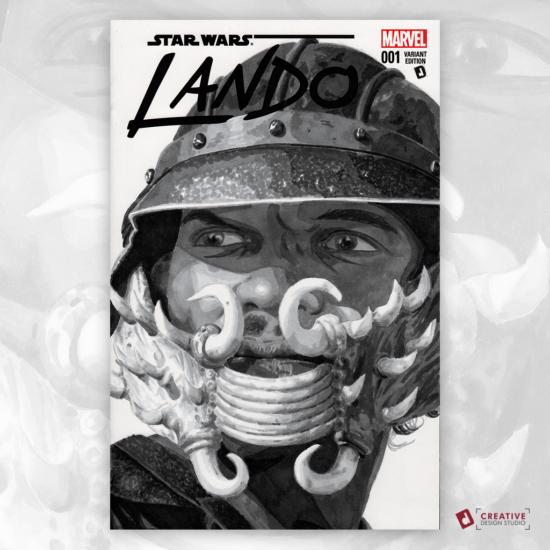 Lando Original Artwork Sketch Cover