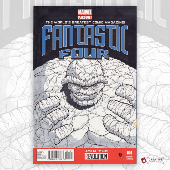 Fantastic Four Original Artwork Sketch Cover