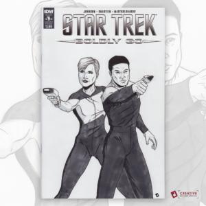 Star Trek Original Artwork Sketch Cover