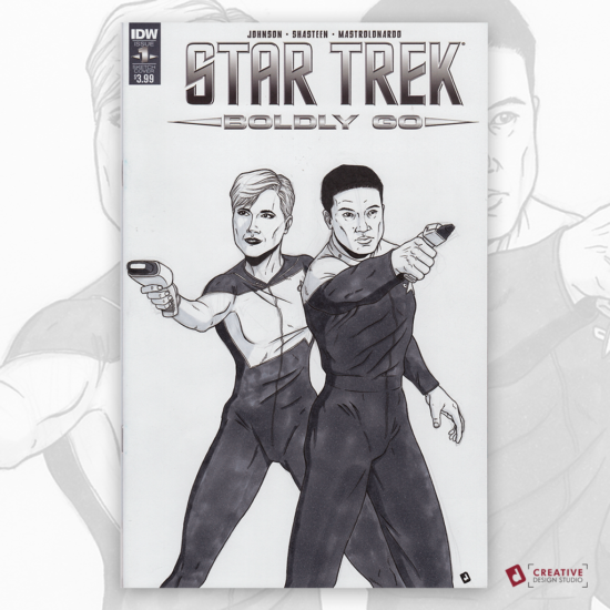 Star Trek Original Artwork Sketch Cover