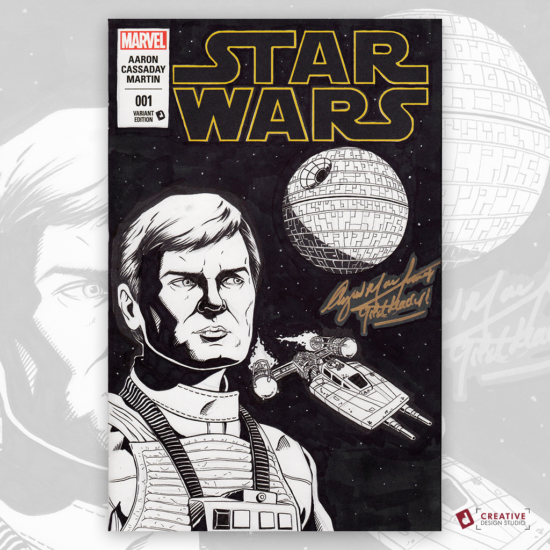 Star Wars Original Artwork Sketch Cover