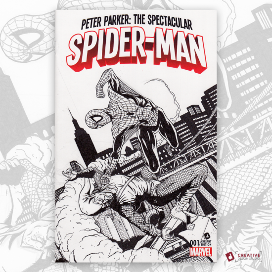 Spider-Man Original Artwork Sketch Cover