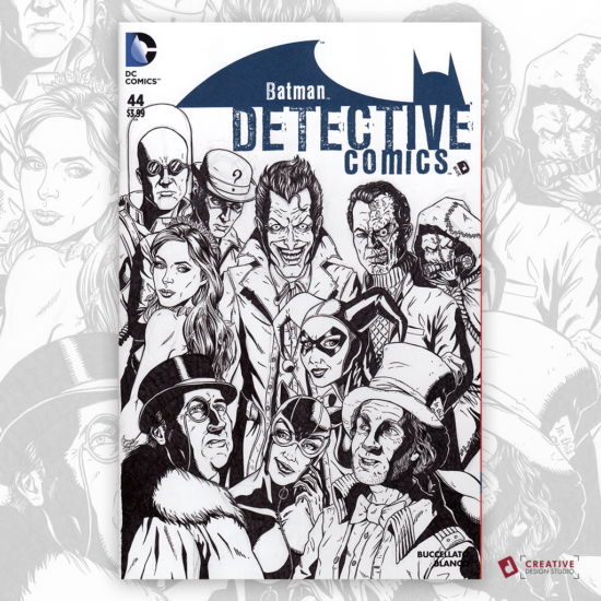 Detective Comics Original Artwork Sketch Cover