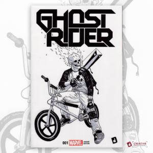 Ghost Rider Original Artwork Sketch Cover
