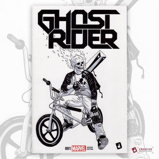 Ghost Rider Original Artwork Sketch Cover