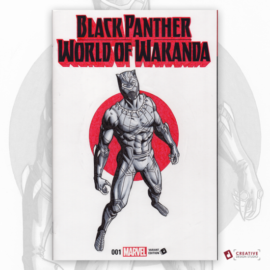 Black Panther Original Artwork Sketch Cover