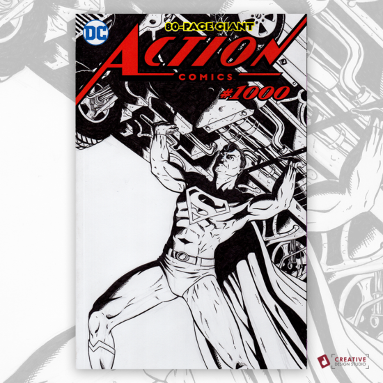 Action Comics Original Artwork Sketch Cover