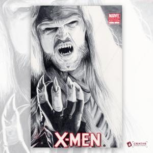 X-Men Original Artwork Sketch Cover