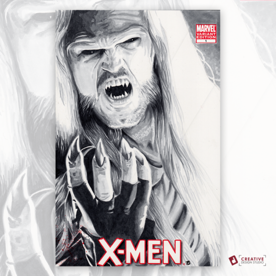 X-Men Original Artwork Sketch Cover