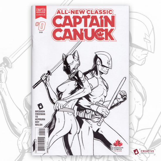 Captain Canuck Original Artwork Sketch Cover