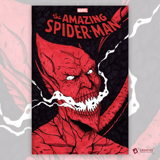 Amazing Spider-Man Original Artwork Sketch Cover