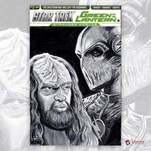 Star Trek Green Lantern Original Artwork Sketch Cover