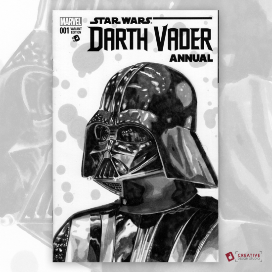 Darth Vader Original Artwork Sketch Cover