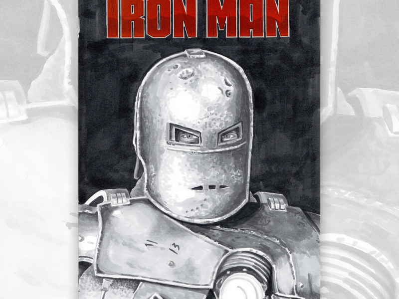 Iron Man Original Artwork Sketch Cover