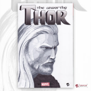 Unworthy Thor Original Artwork Sketch Cover