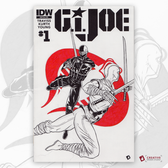 G.I. Joe Original Artwork Sketch Cover