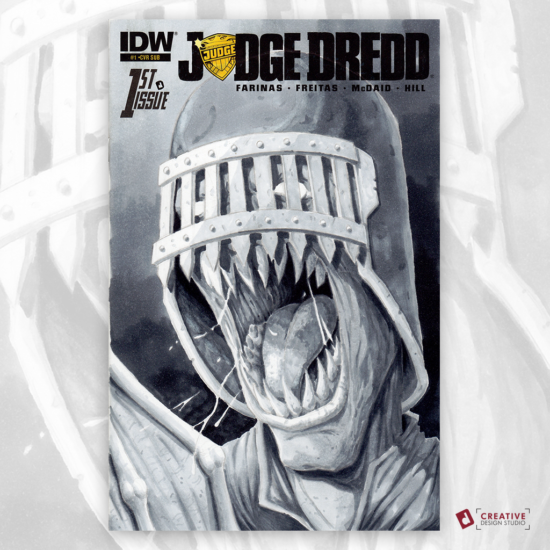 Judge Dredd Original Artwork Sketch Cover