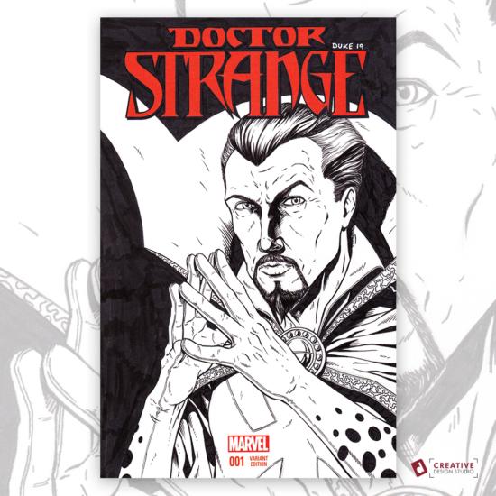 Doctor Strange Sketch Cover