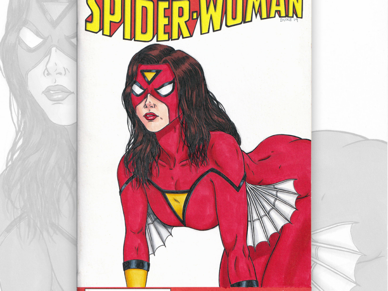 Spider Woman Sketch Cover