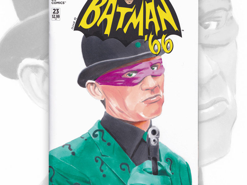 Sketch Cover Batman 66 Riddler