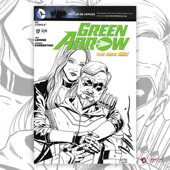 Green Arrow Sketch Cover by David Jacob Duke