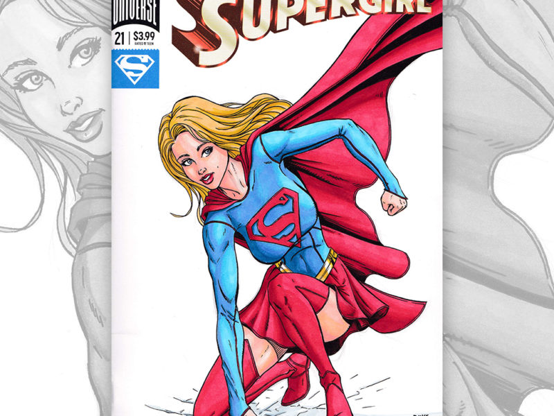 Supergirl Sketch Cover by Duke