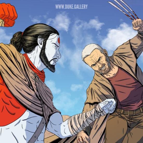 Rai vs Old Man Logan Wolverine
