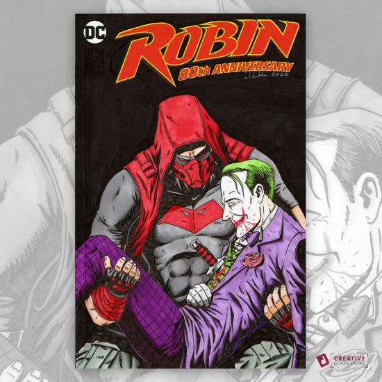 Red Hood Joker Sketch Cover