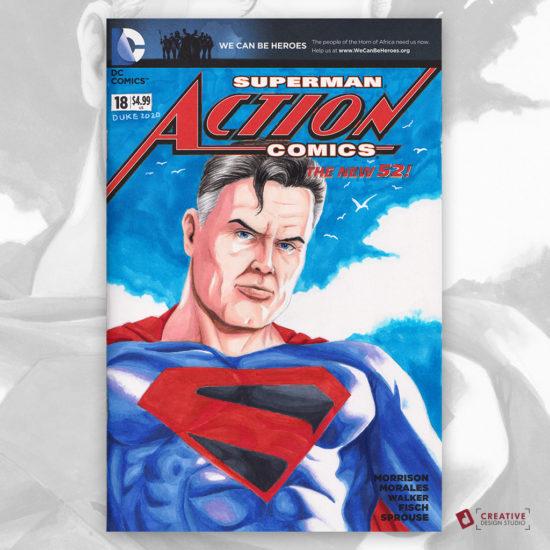 Superman Kingdom Come Sketch Cover