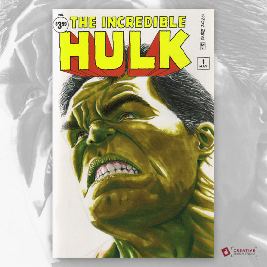 The Hulk Sketch Cover