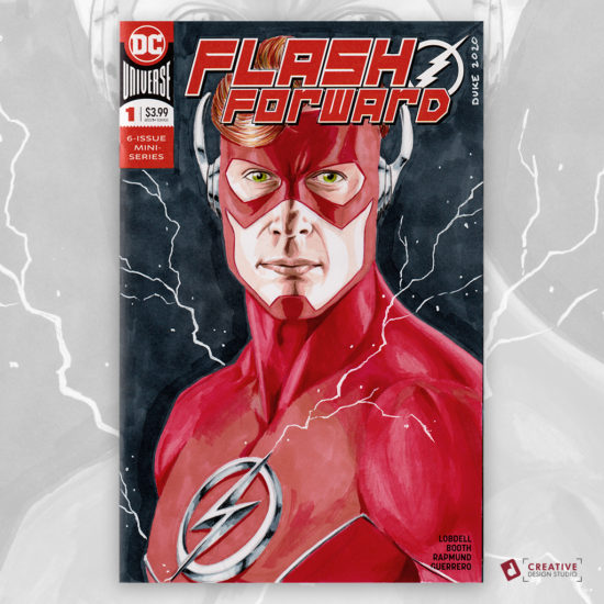 The Flash Wally West Sketch Cover