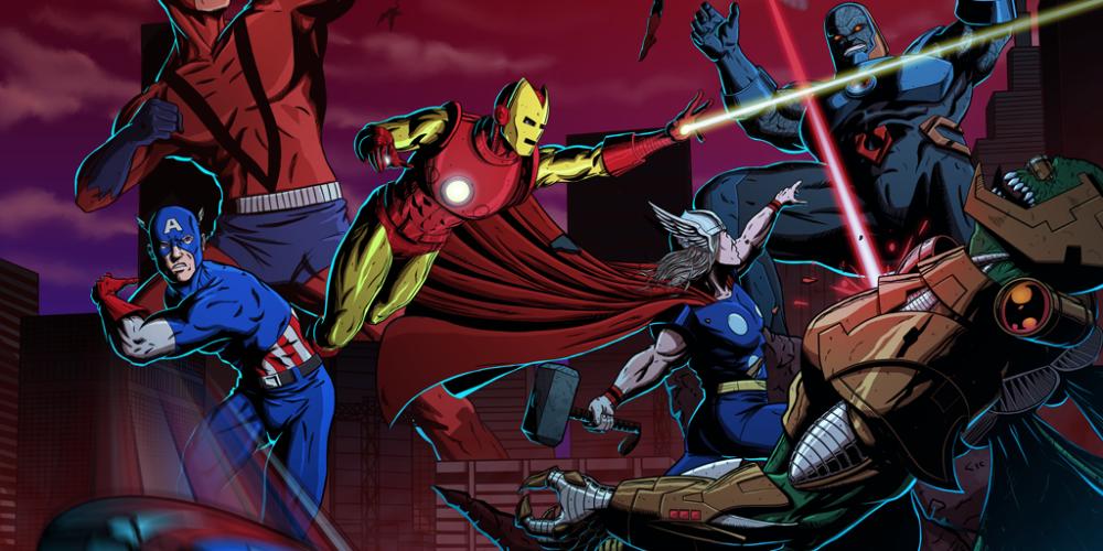 Classic Avengers vs. Darkseid
