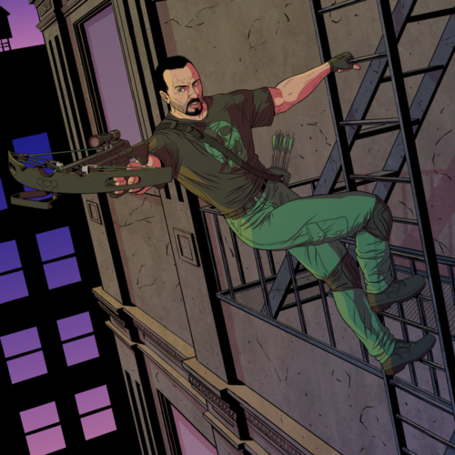 Green Arrow/Punisher = Deadbolt