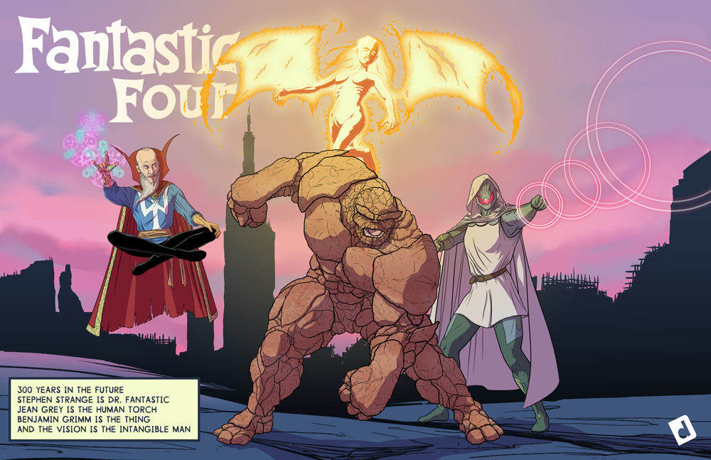 The Fantastic Four: 300 years in the future!