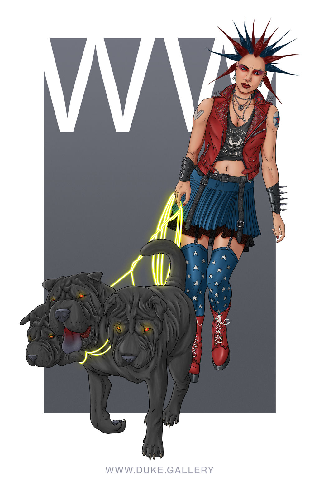 Punk Rock Wonder Woman