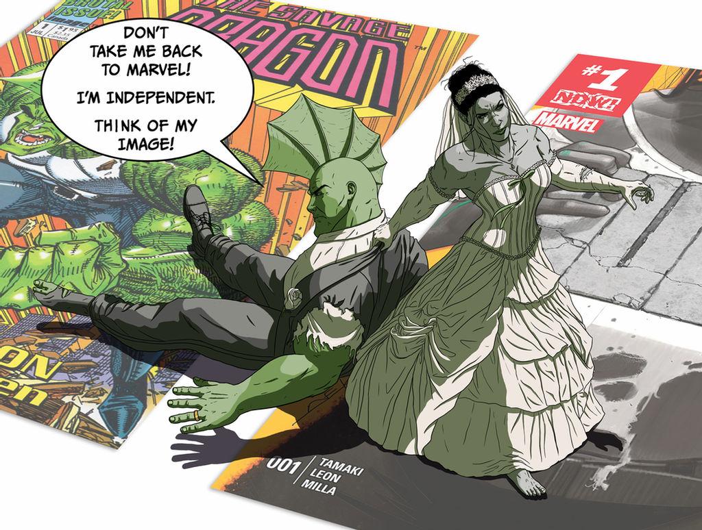 Savage Wedding: She-Hulk and The Savage Dragon
