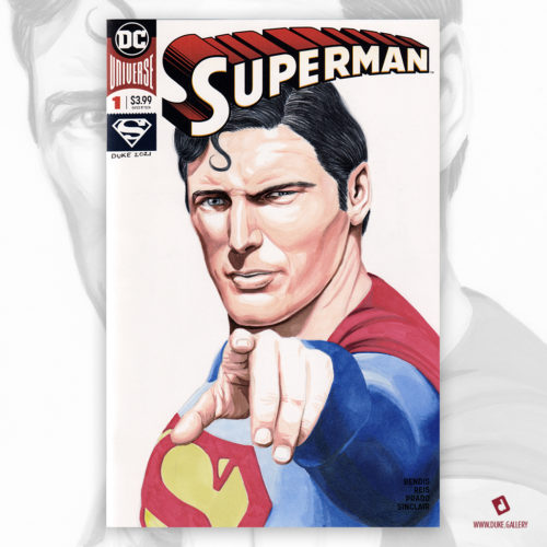Superman Christopher Reeves Sketch Cover