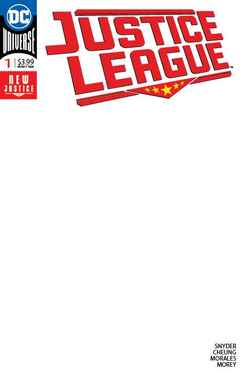 Justice League #1 Blank
